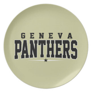 Geneva High School; Panthers Dinner Plate
