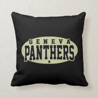 Geneva High School; Panthers Throw Pillow