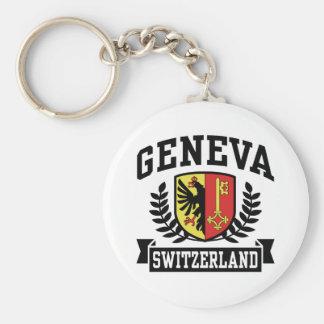 Geneva Basic Round Button Keychain