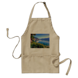 Geneva lake at Montreux, Vaud, Switzerland Adult Apron