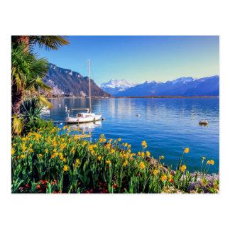 Geneva lake at Montreux, Vaud, Switzerland Postcard