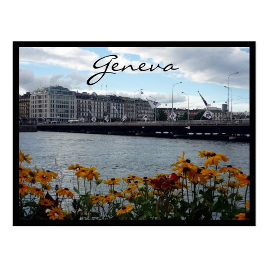 geneva lake flora postcard