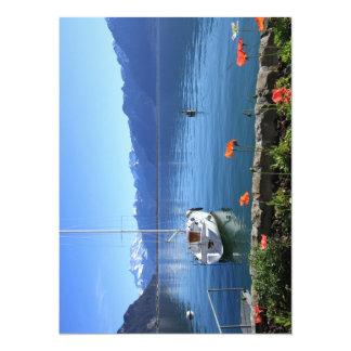 Geneva lake scenery, Montreux, Switzerland Card