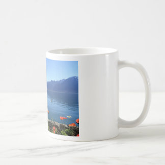 Geneva lake scenery, Montreux, Switzerland Coffee Mug