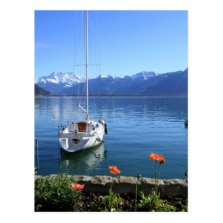 Geneva lake scenery, Montreux, Switzerland Postcard