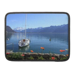 Geneva lake scenery, Montreux, Switzerland Sleeve For MacBook Pro