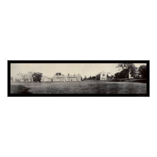 Geneva, New York Hobart College Photo 1909 Print