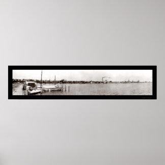 Geneva NY Waterfront Photo 1909 Poster