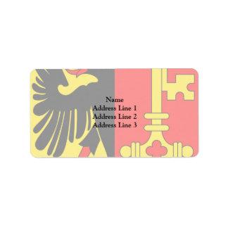 Geneva, Switzerland Address Label