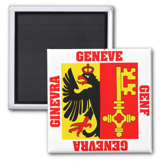 Geneva Switzerland Canton Flag Magnet
