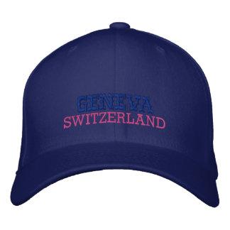 GENEVA,  SWITZERLAND, CUSTOM EMBROIDERED BASEBALL HAT