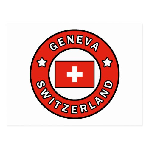 Geneva Switzerland Postcard