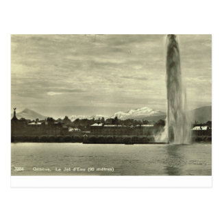 Geneve, d'eau de Le Jet, c.1910 Postal
