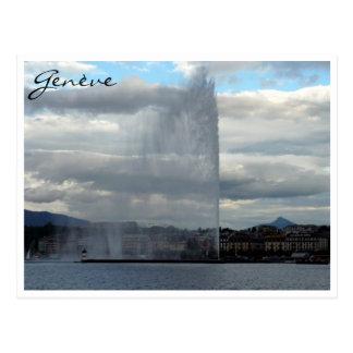 genève jet d'eau postcard