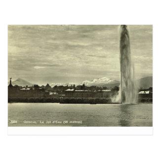 Geneve, Le Jet d'eau, c.1910 Post Card