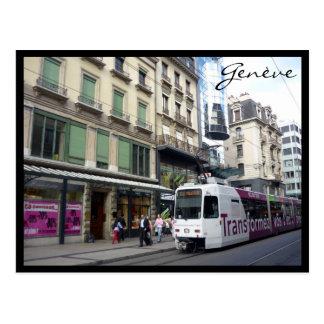 genève tram postcard