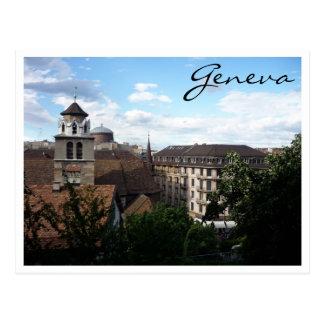 genève view postcard