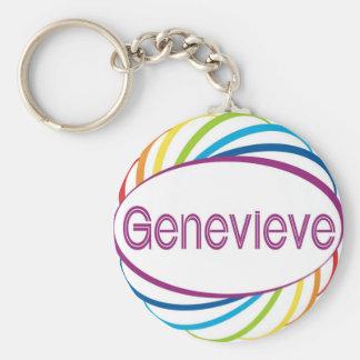Genevieve Basic Round Button Keychain