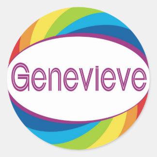 Genevieve Classic Round Sticker
