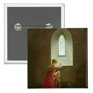 Genevieve of Brabant Baptising her Son in Prison 2 Inch Square Button
