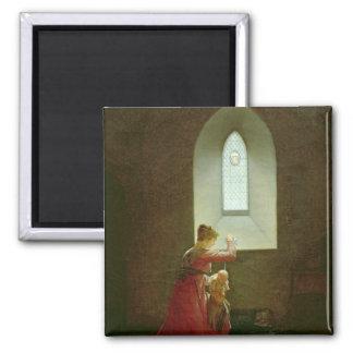 Genevieve of Brabant Baptising her Son in Prison Magnet
