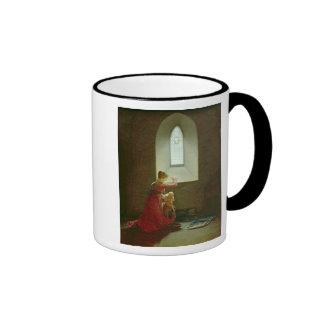 Genevieve of Brabant Baptising her Son in Prison Ringer Mug