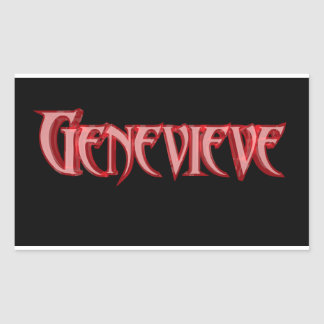 Genevieve Rectangle Stickers, Glossy Rectangular Sticker