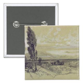 Genezzano, 17 May 1838 (graphite on paper) Pinback Button