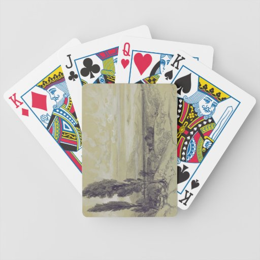 Genezzano, 17 May 1838 (graphite on paper) Poker Cards