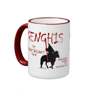 Genghis 'Kahn-tagious' Tour (Mug/Stein) Ringer Coffee Mug