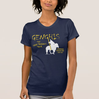 Genghis 'Kahn-tagious' Tour (Women's Dark Front) T-Shirt