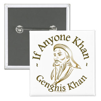 Genghis Khan 2 Inch Square Button