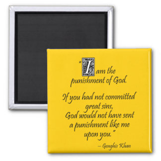 Genghis Khan... 2 Inch Square Magnet