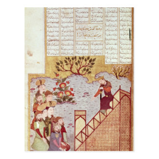 Genghis Khan addressing a congregation Postcard