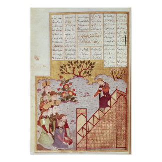 Genghis Khan addressing a congregation Posters
