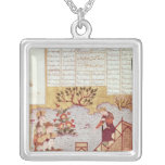 Genghis Khan addressing a congregation Square Pendant Necklace