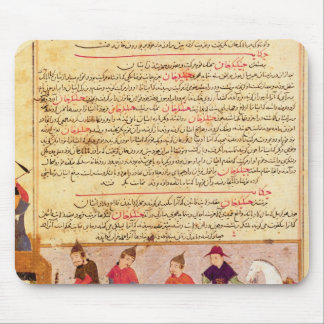 Genghis Khan and his sons by Rashid al-Din Mouse Pad