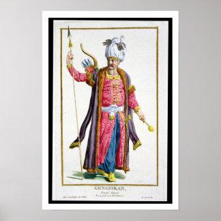 Genghis Khan (c.1162-1227) de 'DES Estam de Receui Impresiones