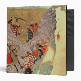 Genghis Khan (c.1162-1227) fighting the Chinese in Binder