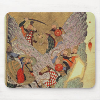 Genghis Khan (c.1162-1227) fighting the Chinese in Mouse Pads