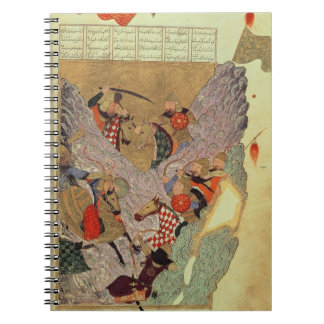Genghis Khan (c.1162-1227) fighting the Chinese in Notebook