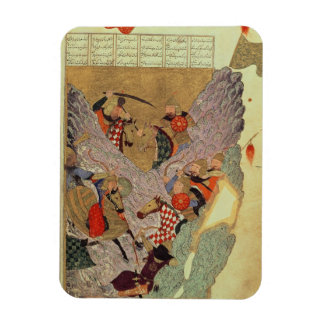 Genghis Khan (c.1162-1227) fighting the Chinese in Rectangular Photo Magnet