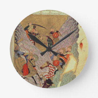 Genghis Khan (c.1162-1227) fighting the Chinese in Round Clock