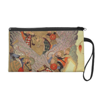 Genghis Khan (c.1162-1227) fighting the Chinese in Wristlet Purse