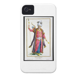 Genghis Khan (c.1162-1227) from 'Receuil des Estam iPhone 4 Case-Mate Case