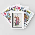 Genghis Khan (c.1162-1227) from 'Receuil des Estam Poker Deck