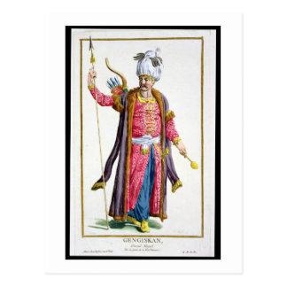 Genghis Khan (c.1162-1227) from 'Receuil des Estam Postcard