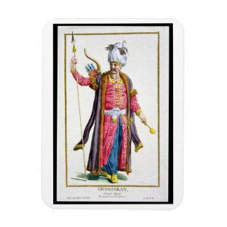 Genghis Khan (c.1162-1227) from 'Receuil des Estam Rectangular Photo Magnet