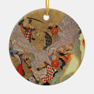 Genghis Khan (c.1162-1227) que lucha a los chinos  Adorno Para Reyes