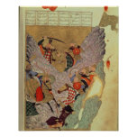 Genghis Khan (c.1162-1227) que lucha a los chinos  Poster